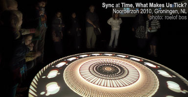 'sync' premiere as part of 'time, what makes us tick?' installation at noorderzon festival, groningen, holland, august 2010